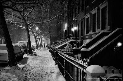 Harold Feinstein, 'Night Snow W. 11th Street', ca. 1970's