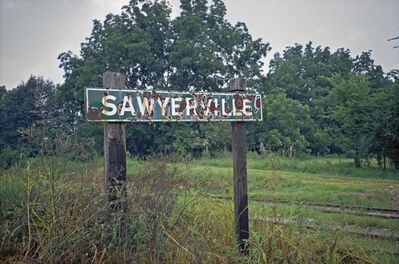 William Christenberry, 'Sign, Sawyerville, Alabama', 1973