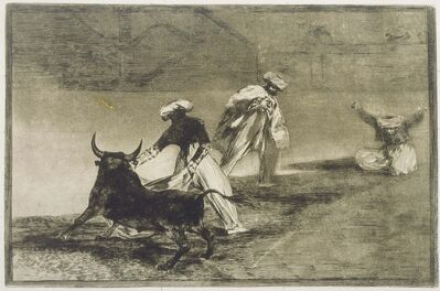 Francisco de Goya, 'They Play Another with the Cape... from L', 1816