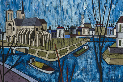 Jean Nerfin, 'Canal scene with boats'