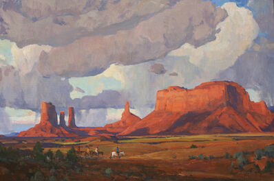 """G. Russell Case, '""""Dark Clouds, Monument Valley""""', 2016"""