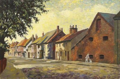 George J Charlton, 'Street View with Figure'