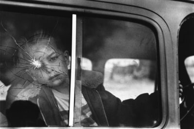 Elliott Erwitt, 'Cracked Glass with Boy, Colorado', 1955
