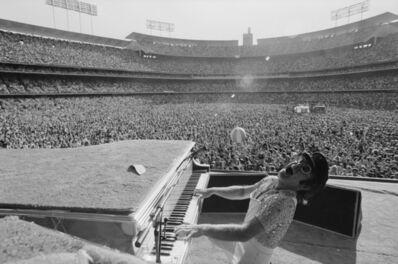 Terry O'Neill, 'Elton John at Dodger Stadium', 1975