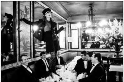 Arthur Elgort, 'Kate Moss,  Cafe Lipp', Paris-1993