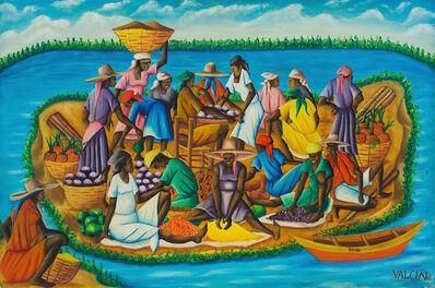 Gerard Valcin, ' Haitian Island', Dated 1964