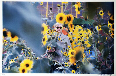 William John Kennedy, 'Andy Warhol with Flowers ', 1964