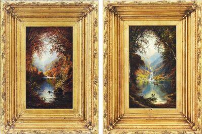 Edmund Darch Lewis, 'Glen Ellis Falls: (Diptych) Autumn & Late Summer'