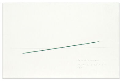 Fred Sandback, 'Green Diagonal', 1974