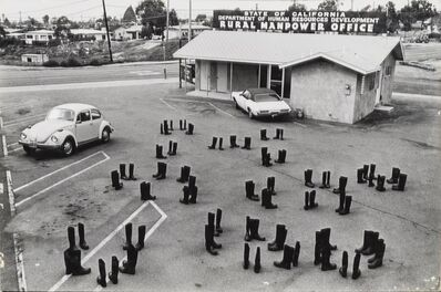 Eleanor Antin, '100 Boots Looking for a Job, San Clemente, California', 1972