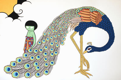 Asuka Ohsawa, 'Alien with Peacock', 2012