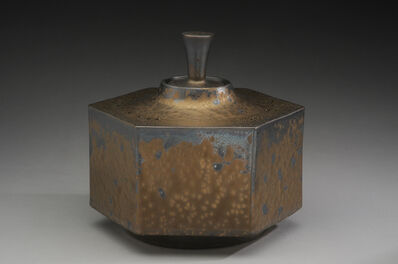 Hideaki Miyamura, 'Hexagon box, bronze glaze', 2019