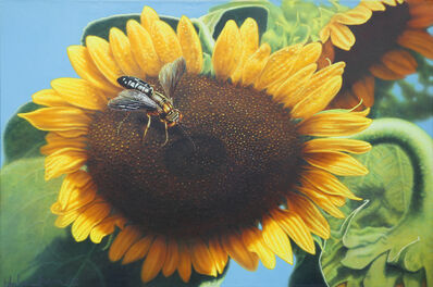 Hilo Chen, 'Sunflower and bee', 1992