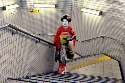 Steve McCurry, 'GEISHA IN SUBWAY, KYOTO, JAPAN, 2007', 2007