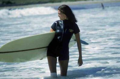 Slim Aarons, 'Minnie Cushing Surfing', 1965