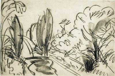 Ernst Ludwig Kirchner, 'Straße mit Bäumen im Taunus', 1916