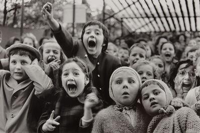 Alfred Eisenstaedt, 'Children at a Puppet Theatre, Paris', 1963
