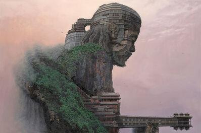 Du Kun, 'Cliff of Sutra Chanting', 2017