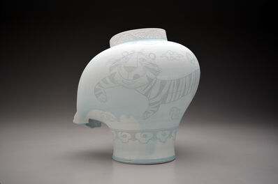 Steven Young Lee, 'Jar with Tiger and Clouds', 2019