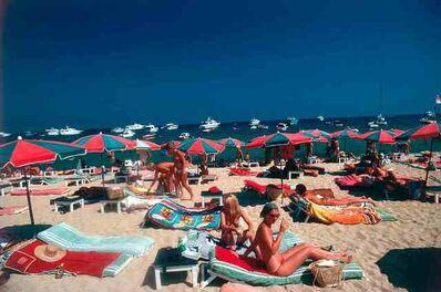 Slim Aarons, 'Beach at St. Tropez', 1977
