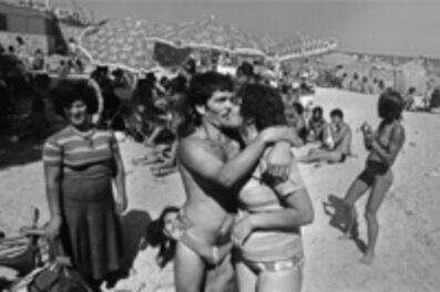 Letizia Battaglia, 'On the beach at Mondello, Palermo', 1982