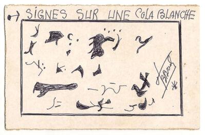 Frédéric Bruly Bouabré, 'Signes sur une colas blanche.', 1985