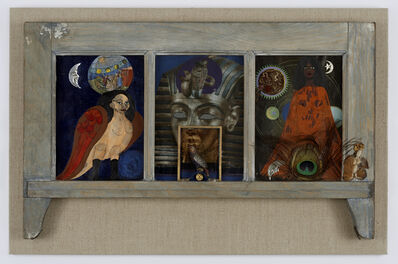 Betye Saar, 'Window of Ancient Sirens', 1979