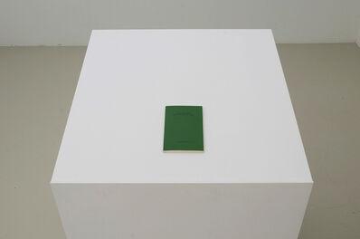 Andreas Slominski, '(grün) Die Geige, die Geige', 1986