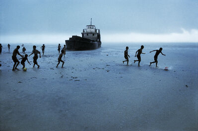Steve McCurry, 'CHILDREN WITH ABANDONED BOAT, 1995', 1995