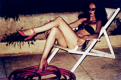 Helmut Newton, 'Grace Coddington Relaxing, St. Tropez', 1973