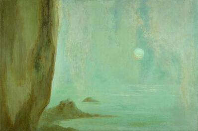 Helen Lundeberg, 'Moon, Sea, Mist', 1955