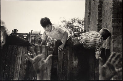 Frank Paulin, 'Boys climbing over fence, Chicago, Illinois', ca. 1951