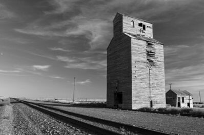 Larry Garmezy, 'Last Stand - Architectural, architectural landscape photography, grain elevator, ghost town, Montana', 2015