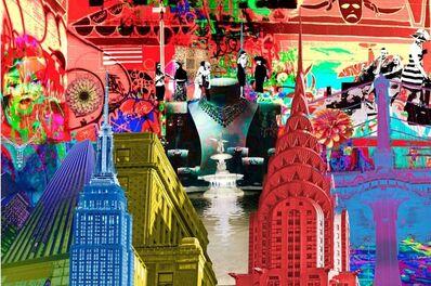 Isack Kousnsky, 'Red Graffiti Collage', 2016