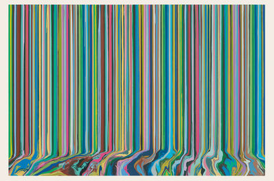 Ian Davenport, 'Poured Triptych Etching: Ambassadors (After Holbein)', 2017