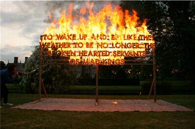 Robert Montgomery, 'Great Fosters Fire Poem', 2011
