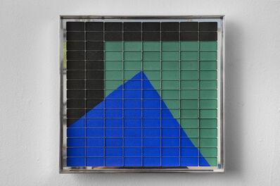 Rachel Lachowicz, 'Untitled (Colliding Squares: Green, Black, Blue)', 2012