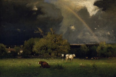 George Inness, 'The Rainbow', ca. 1878-1879