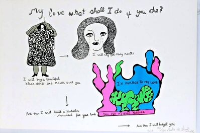 Niki de Saint Phalle, 'My Love What Shall I Do if You Die?', 1968
