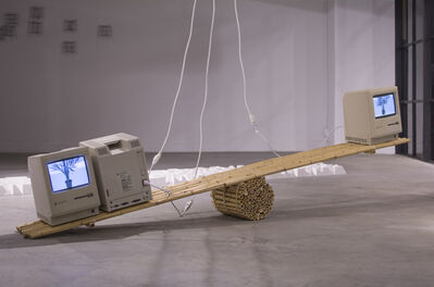 "Dev Harlan, '""Macintosh Computers and Bamboo Scale""', 2016"