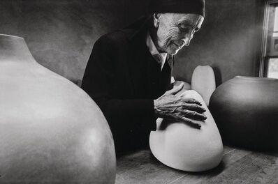 Dan Budnik, 'Georgia O'Keefe at the Ghost Ranch with Pots by Juan Hamilton', 1975