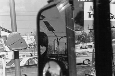 Lee Friedlander, 'Filling Station, Rear View Mirror', 1970/1973