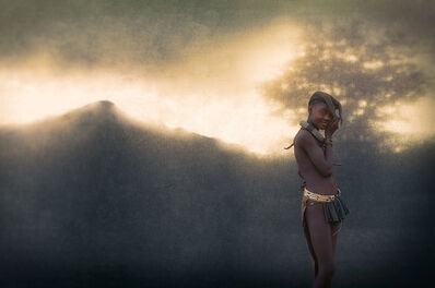 Christopher Rimmer, 'Ovahimba Girl in the Landscape, Southern Angola', 2016