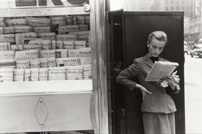Louis Stettner, 'Elbowing, Out of Town Newsstand', 1954