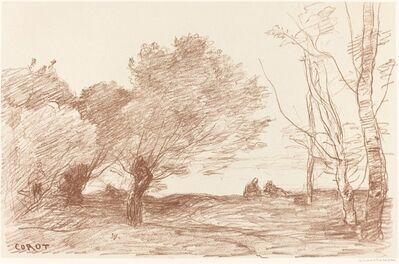 Jean-Baptiste-Camille Corot, 'Willows and White Poplars (Saules et peupliers blancs)', 1871