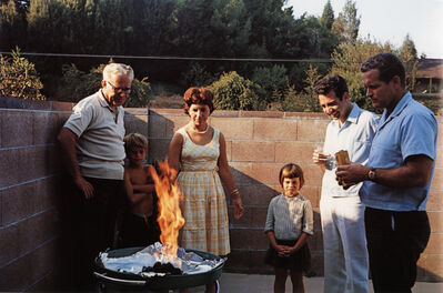 Guy Stricherz, 'Americans in Kodachrome 1945-65, Flaming Barbeque, Tarzana, California. Photographer: Andrea Katres', 1965