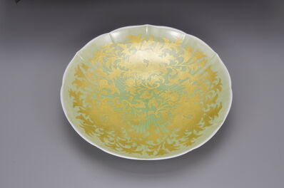 Yoshita Minori, 'Plate with peony and dry-grass patterns', 2012
