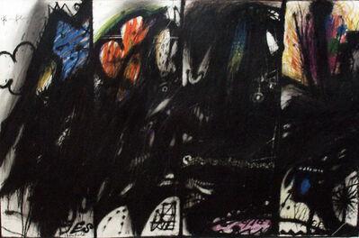 Arnulf Rainer, 'Als Gladiator (Die vier Gladiatoren als Wasserspeier) (Wahnhall II)', 1967