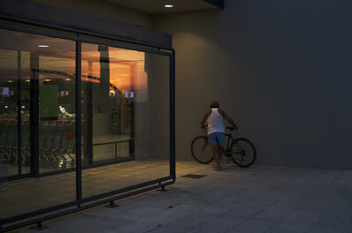 Natalia Poniatowska, 'The Moment of Parking a Bike on The Supermarket's Wall', 2017