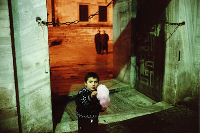Alex Webb, 'Outside of the Blue Mosque during Ramadan. Istanbul. Turkey. ', 2001